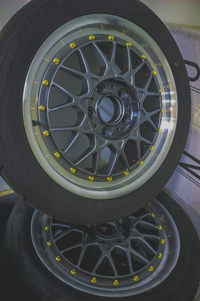 BMW BBS RC041 And RC042 Split Rim Wheels With Grey Centres And Polished Lips