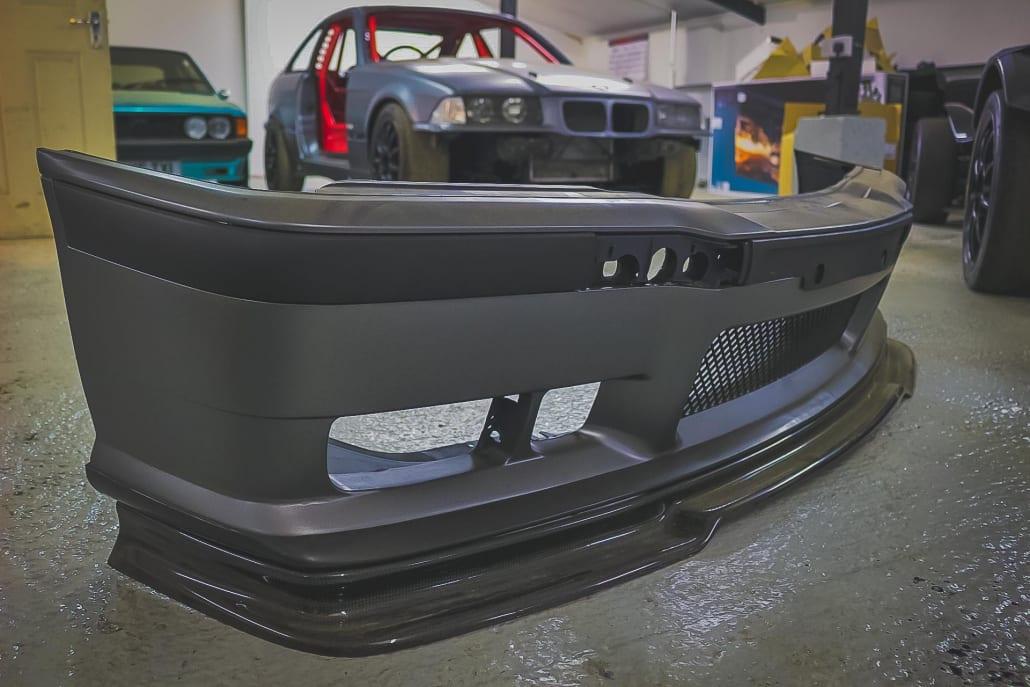 BMW E36 M3 And Sport Front Bumper With Carbon Fibre M3 GT Front Splitter