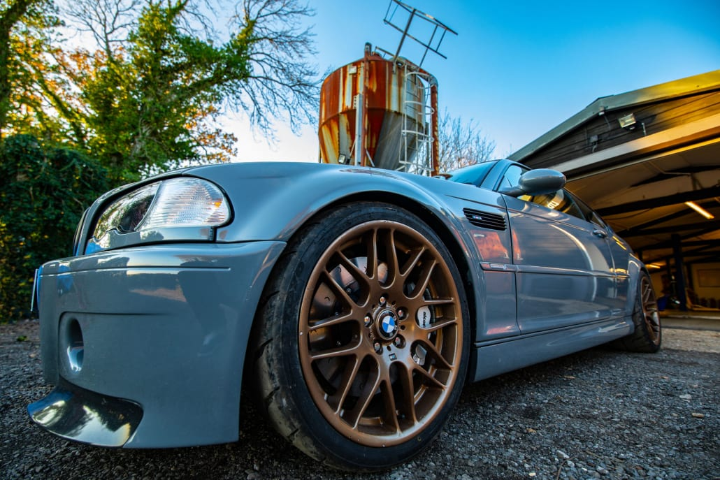 BMW E46 M3 With Audi Nardo Grey Paint And Bronze BBS Wheels