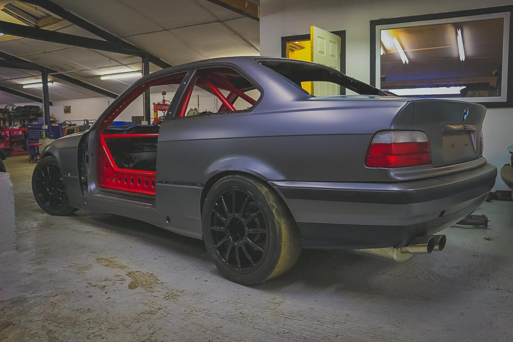 Revolt Autoworks 3 Series Track Car With Custom Modifications