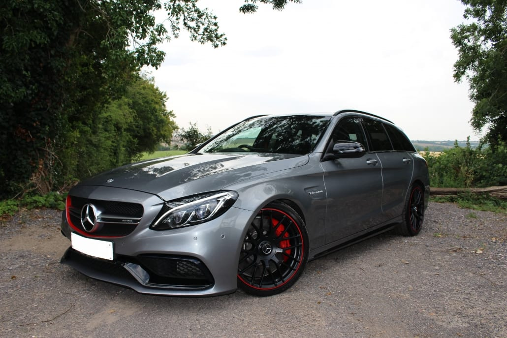 Front three-quarter of Mercedes-AMG C63 S Edition 1 Estate