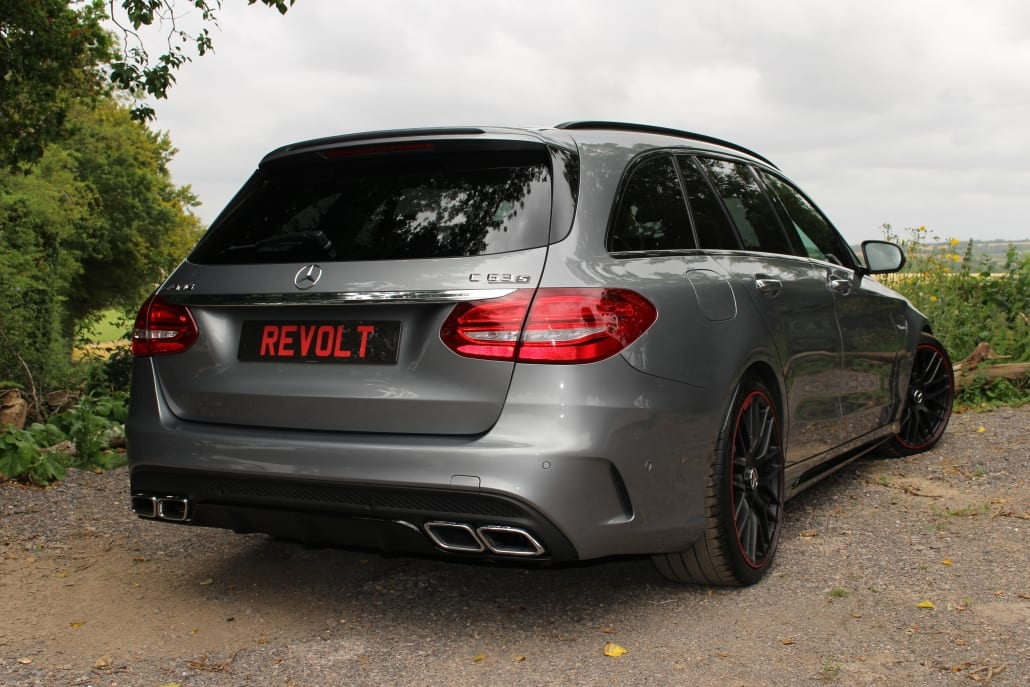 Rear quarter of Mercedes-AMG C63 S Edition 1 Estate