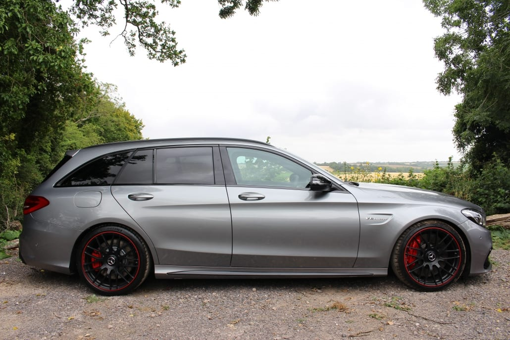 Side profile of Mercedes-AMG C63 S Edition 1 Estate for sale