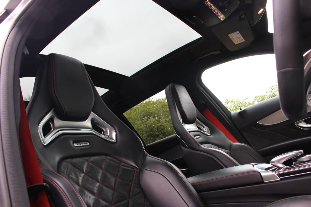 Panoramic sunroof of Mercedes-AMG C63 S Edition 1 Estate for sale