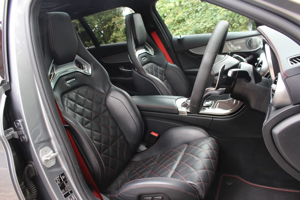 Sport seats of Mercedes-AMG C63 S Edition 1 Estate for sale
